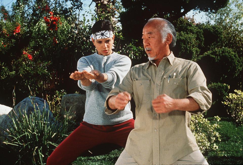 Karate kid con allenatore